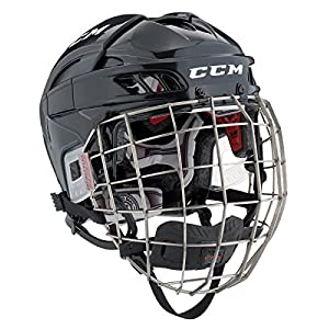 CCM Fitlite Helm Combo Senior, Größe:S, Farbe:weiss