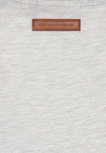 Naketano Female Shortsleeve Leidenswerther II Stone Grey Melange