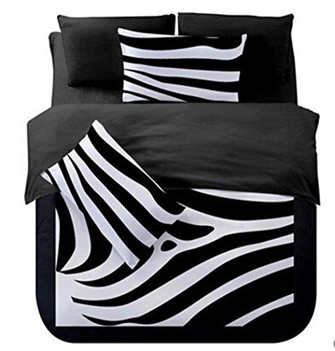 WYFC Winter Bettbezug Sets 4 Stück Bettwäsche Sets voller Queen Size 1 Stück Bettbezug 2pcs Shams 1 Stück Flat Sheet, A, Full - Full Flat Sheet