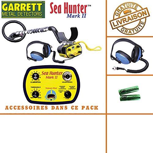 GarrettSea Hunter Mark II -Detector de metales con sonido y auriculares sumergibles
