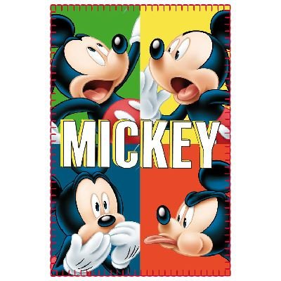 Children Kids Official Disney Character Mickey Mouse Fleece Blanket Throw