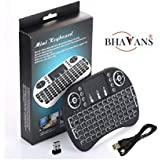 BHAVANS Mini Wireless Keyboard With Touchpad Mouse Black For Mobile/Tablet/TV Box/Smart TV/Computer/PS3