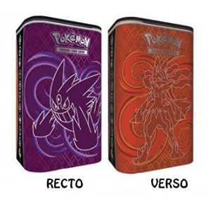 Pokémon - Jeux de Cartes - Boites de Rangement - Elite Trainer Deck Shield - Méga Ectoplasma Et Méga Lucario + 2 Boosters (anglais)