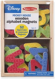 Melissa & Doug Wooden Letter Alphabet Magnets, Developmental Toys, Sturdy Wooden Construction, 52 Pieces,