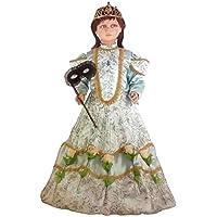 Queen Costume de Castiglia pour petite fille enfant Kid Carnival Halloween déguisement Cosplay (4–5ans)