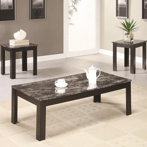 3pc-coffee-table-set-with-gray-marbleized-top-coffee-table-and-two-end-tables-in-black-finish-item-v