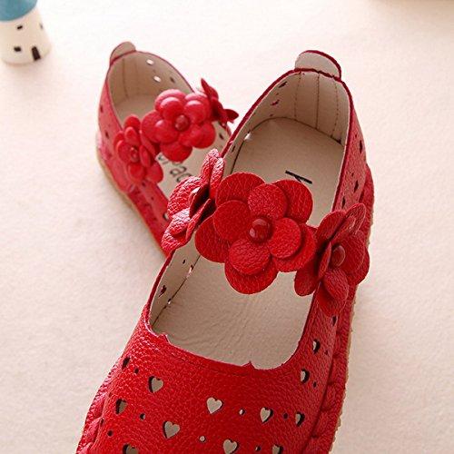 Ahatech Mädchen Prinzessin Blumen Ballerina Rot