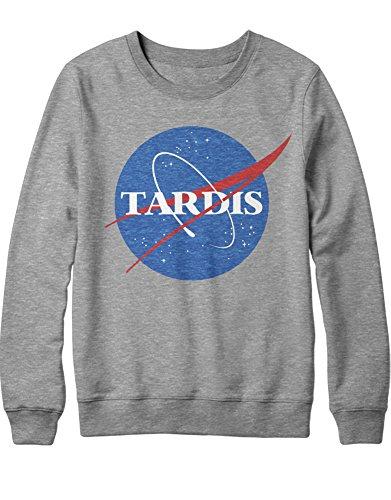 Sweatshirt Tardis NASA Logo Mashup C980313 Grau M (Tardis Kostüm Box)