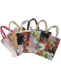 Star Homz Eco Friendly Utility Bag In Assorted Prints (Pack Of 6 Pcs) (8x8 Inch) (SHMB002)