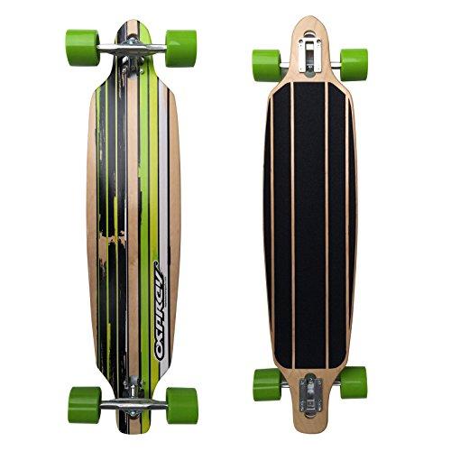 Osprey Longboards Flint, Limited Edition Komplettboard, Twin-Tip Drop-Through Freeride Skaten Cruiser Board