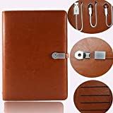 #10: GR DESIGN Note Book Diary with 8gb pen drive and 4000 Mah power Bank + Refillable sheets with i phone & C- type Android charge