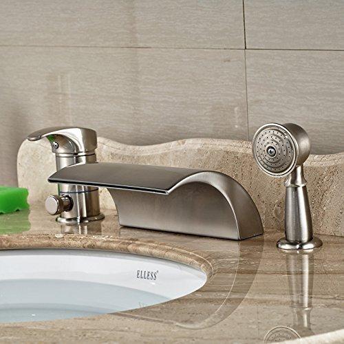 Badezimmer Badewanne Armatur Wasserhahn römischen Whirlpool Wasserhähne Nickel gebürstet beendet