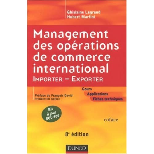 Management des opérations de commerce international : Importer-Exporter