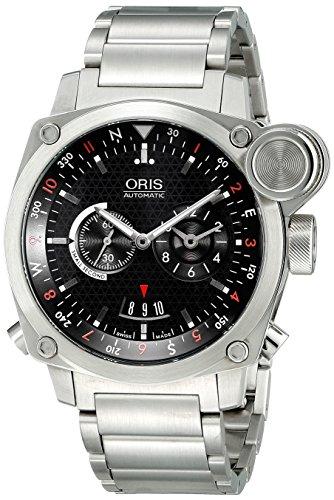 Oris Herren 69076154154MB BC4Flight Timer Analog Display Automatische selbst wind Silber Armbanduhr