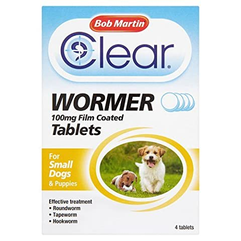 Bob Martin Clear Wormer Tablets for Small Dogs, 4
