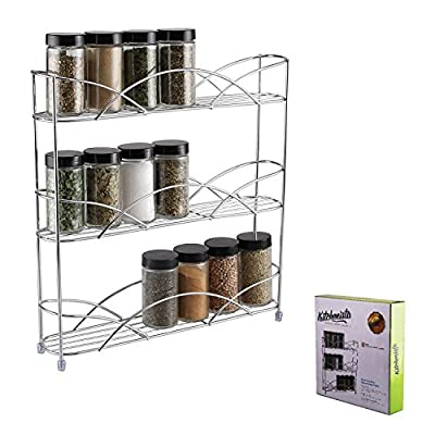 Kitchenista Free Standing Spice and Herb Rack, Universal - Chrome by Kitchenista