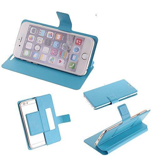 K-S-Trade Flipcover für TP-LINK, Allview, Sharp, Apple, Nokia, Vestel, Leagoo, Gigaset, LG Electronics, Medion, Shift, Doogee Schutz Hülle Schutzhülle Flip Cover Handy case Smartphone Handyhülle blau