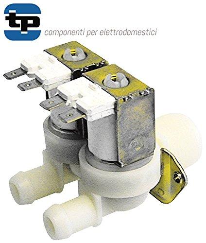 TP Magnetventil für Spülmaschine Kromo K2100, K1600, K1800 Kunststoff 230V 2-fach Eingang 3/4' Ausgang ø 14mm DN 10 230VAC - 2 Magnetventil