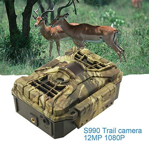JYSXT Trail Game Kamera, IP54 wasserdicht 12MP 1080P wasserdicht Jagd Scouting Cam Bewegung aktiviert Nachtsicht 65ft / 20m No Glow IR-LEDs für die Überwachung von Wildtieren