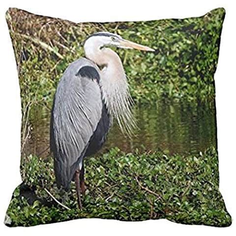 Great Blue Heron Watch Next Meal 2 Pillow Case 18