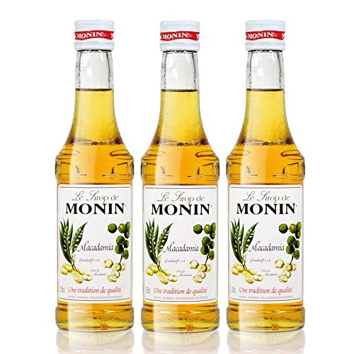 Preisvergleich Produktbild 3x Monin Macadamia Sirup,  250 ml Flasche