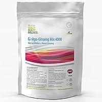 Ginkgo Biloba Ginseng Mix 3000mg + 1000mg   250 Tabletten (vegan)   Koreanischer Ginseng   Konzentration + Potenz + Sex + Vitalität   Premium Qualität zum Fairen Preis