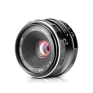 Meike MK 25mm f / 1.8 Obiettivo grandangolare Grandangolo Obiettivo grandangolare manuale per Olympus Panasonic Micro 4/3 Mount Mirrorless Cameras