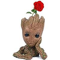 Maceta Angker, con diseño de Groot, superhéroe de los cómics Marvel, para flores, plantas, parterres, etc.
