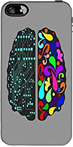 Snoogg logic and creative brain 2412 Hard Back Case Cover Shield ForApple Iphone 5 / 5s