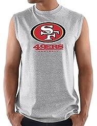 San Francisco 49ers Majestic NFL Critical Victory 3 Men's Sleeveless T-shirt Chemise