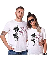 Sai Shree Couple Nightwear T Shirt | Concupiscence T Shirt for Loved Ones | Yearning | Free Size White