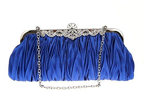 Henkeltaschen Silber Schatz blau