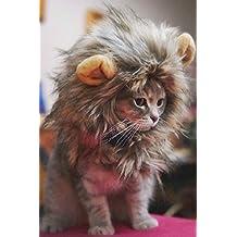 Kicode Disfraz de mascota peludo Lion Mane peluca Para gatos mascotas Disfraces con orejas Festival Party