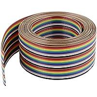 3m 30Pin Colores Arcoíris Plano Cinta Cable CONEXIÓN POR DESPLAZAMIENTO DEL AISLANTE Alambre 1.27mm para Arduino
