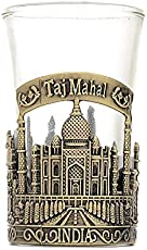 Skywalk Souvenir Taj Mahal India Shot Glass (Green)
