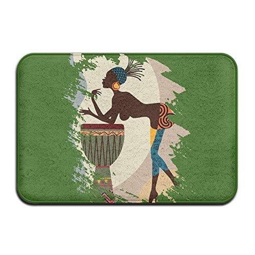 mabaoyuheng Soft Non-Slip African American Art Bath Mat Coral Fleece Area Rug Door Mat Entrance Rug Floor Mats