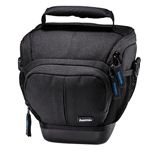 Hama Kameratasche Outdoor für DSLR Kamera mit Objektiv (wasserabweisender Hartschalenboden, stoßfest, gepolstert, Innenmaße 16 x 10 x 16 cm, Colttasche Ancona HC 110) schwarz