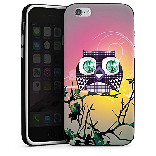 Apple iPhone X Silikon Hülle Case Schutzhülle Eule Eulen Muster Silikon Case schwarz / weiß