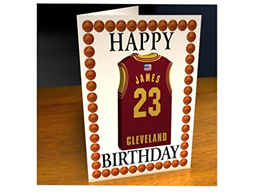 Nba basketball jersey themed greeting cards personalised birthday cleveland cavaliers nba basketball greeting card buy online in oman misc bookmarktalkfo Image collections