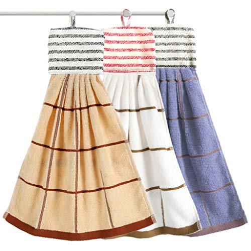 BNBO-L HWH Hängendes Gesicht Handtuch Baumwolltuch weiche saugfähige Handtuch Küchentaschentuch Kinder kleines Handtuch Erwachsene Handtuch Saugfähige Handtücher (Farbe : Blue+Brown+White)