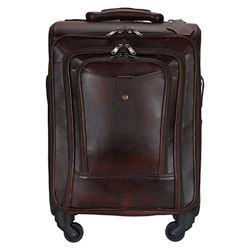 Charpe Genuine Leather 4 Wheeler Chocolate Trolley/Travel/Suitcase Bag  available at amazon for Rs.10350