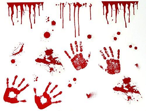 enschwester Chirurg Arzt Blutig Säge Beil OP-Set (Klebe-Deko Wand Blutige Hände) ()