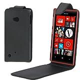 JIANWU Case Cover in Pelle Flip Phone Custodia in Pelle Verticale Flip for Nokia Lumia 720 (Nero)