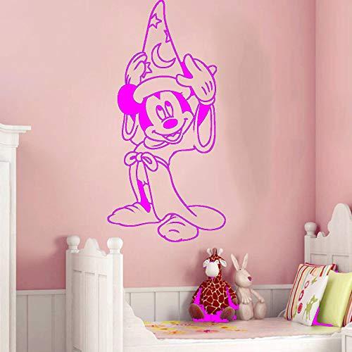 yaoxingfu Kreative Cartoon Aufkleber DIY Schlafzimmer Nette Maus Pyjamas Wandaufkleber Für Kinderzimmer Dekoration Wandaufkleber ww-4 120x60 cm