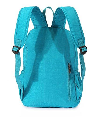 Tibes beiläufige wasserdichte Rucksack Laptop-Tasche Studenten schulrucksack Hellgrün