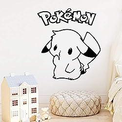 XL 58 cm X 65 cm Bande Dessinée Pokemon Vinyle Stickers Muraux Pikachu Papier Peint Pour Enfants Chambres Chambre Décoration Murales Chambre Décor