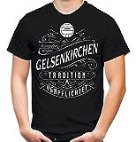 Mein leben Gelsenkirchen T-Shirt | Freizeit | Hobby | Sport | Sprüche | Fussball | Stadt | Männer | Herren | Fan | M1 Front (L)