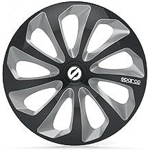 Cubierta de la rueda Sparco dos tonos negro / gris 15