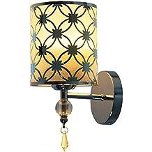 Fuloon Moderno Hierro Forjado Decorativo Lámpara de Pared para Sala de Estar Dormitorio Restaurante Hotel Estudio