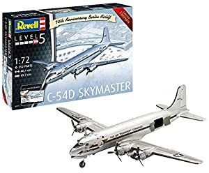 Revell-C-54D Skymaster 70th Anniversary Berlin Airlift, edición Limitada, Kit de Modelo, Escala 1:72 Incluye Calendario 2019 y póster (3910), 40,1 (03910)
